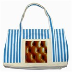 wallpaper_15630 Striped Blue Tote Bag