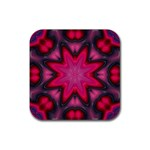 X_Red_Party_Style-777633 Rubber Square Coaster (4 pack)