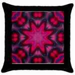 X_Red_Party_Style-777633 Throw Pillow Case (Black)