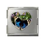butterfly_4 Mega Link Heart Italian Charm (18mm)