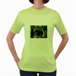 butterfly_4 Women s Green T-Shirt