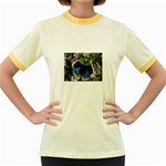 butterfly_4 Women s Fitted Ringer T-Shirt