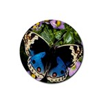 butterfly_4 Rubber Coaster (Round)