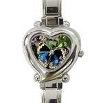 butterfly_4 Heart Italian Charm Watch