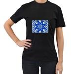 fractal_41 Women s Black T-Shirt