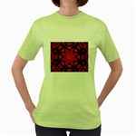 X_Red_Party_Style-777633 Women s Green T-Shirt