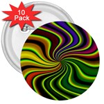 hippy-550591 3  Button (10 pack)