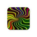 hippy-550591 Rubber Coaster (Square)
