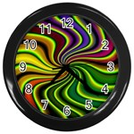 hippy-550591 Wall Clock (Black)