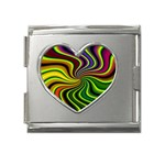 hippy-550591 Mega Link Heart Italian Charm (18mm)