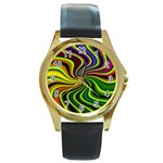 hippy-550591 Round Gold Metal Watch