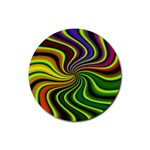 hippy-550591 Rubber Coaster (Round)