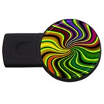hippy-550591 USB Flash Drive Round (2 GB)