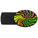 hippy-550591 USB Flash Drive Oval (2 GB)