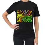 hippy-550591 Women s Black T-Shirt (Two Sides)