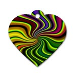 hippy-550591 Dog Tag Heart (Two Sides)