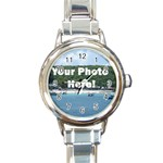 Personalised Photo Round Italian Charm Watch