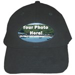 Personalised Photo Black Cap