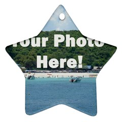 Personalised Photo Ornament (Star) from SnappyGifts.co.uk Front