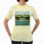 Personalised Photo Women s Yellow T-Shirt