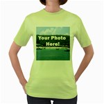 Personalised Photo Women s Green T-Shirt