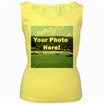 Personalised Photo Women s Yellow Tank Top