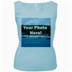Personalised Photo Women s Baby Blue Tank Top