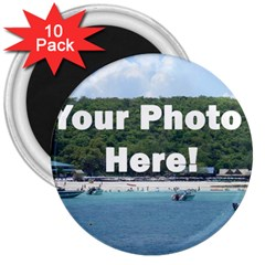 Personalised Photo 3  Magnet (10 pack) from SnappyGifts.co.uk Front