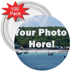 Personalised Photo 3  Button (100 pack)