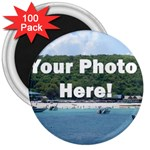 Personalised Photo 3  Magnet (100 pack)