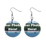 Personalised Photo 1  Button Earrings