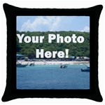 Personalised Photo Throw Pillow Case (Black)
