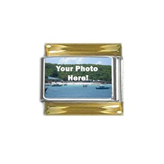 Personalised Photo Gold Trim Italian Charm (9mm) from SnappyGifts.co.uk Front
