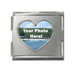 Personalised Photo Mega Link Heart Italian Charm (18mm)