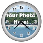 Personalised Photo Wall Clock (Silver)