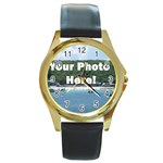 Personalised Photo Round Gold Metal Watch