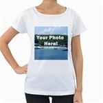 Personalised Photo Maternity White T-Shirt