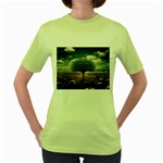 4-908-Desktopography1 Women s Green T-Shirt