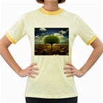 4-908-Desktopography1 Women s Fitted Ringer T-Shirt
