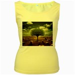 4-908-Desktopography1 Women s Yellow Tank Top