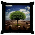 4-908-Desktopography1 Throw Pillow Case (Black)