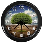 4-908-Desktopography1 Wall Clock (Black)
