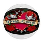 True-Love-Tattoo-Belt-Buckle Ornament (Round)