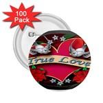 True-Love-Tattoo-Belt-Buckle 2.25  Button (100 pack)