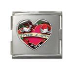 True-Love-Tattoo-Belt-Buckle Mega Link Heart Italian Charm (18mm)