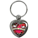 True-Love-Tattoo-Belt-Buckle Key Chain (Heart)