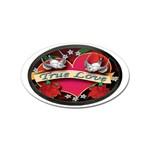 True-Love-Tattoo-Belt-Buckle Sticker Oval (100 pack)