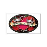 True-Love-Tattoo-Belt-Buckle Sticker Rectangular (100 pack)