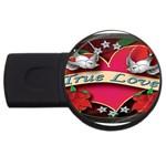 True-Love-Tattoo-Belt-Buckle USB Flash Drive Round (1 GB)