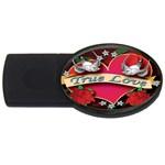 True-Love-Tattoo-Belt-Buckle USB Flash Drive Oval (2 GB)